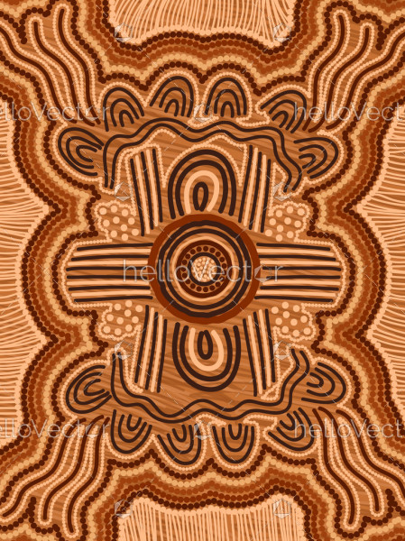 Aboriginal style of vector background