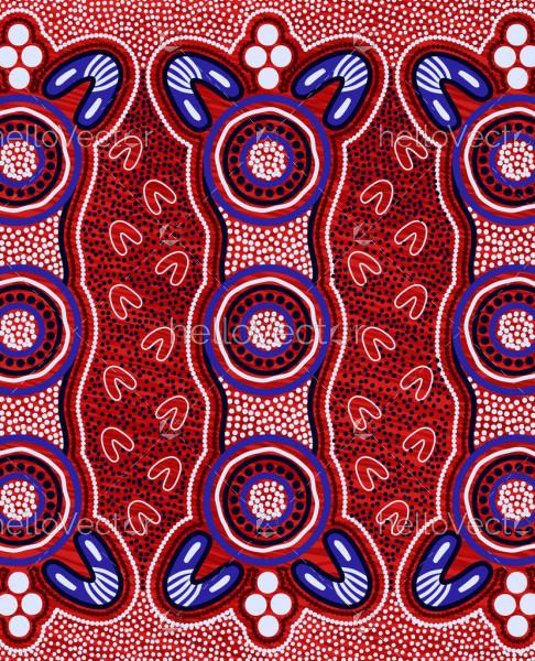 Aboriginal vector artwork