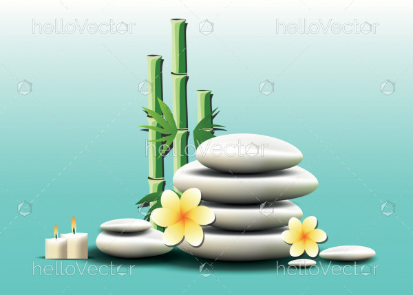 Spa background with white zen spa stones