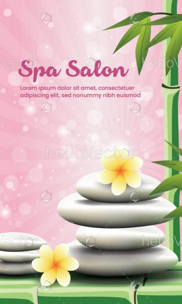 Spa beauty salon vector banner background