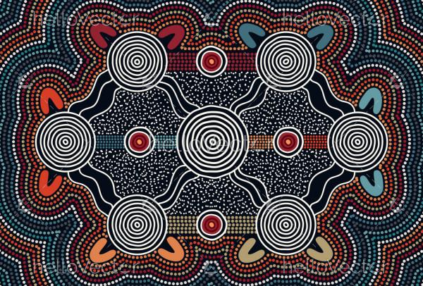 Aboriginal connection concept artwork