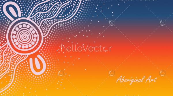 Dot art aboriginal poster design