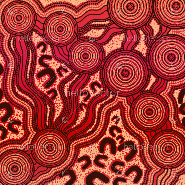 Aboriginal art background - connection concept
