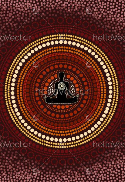 Aboriginal artwork for meditation