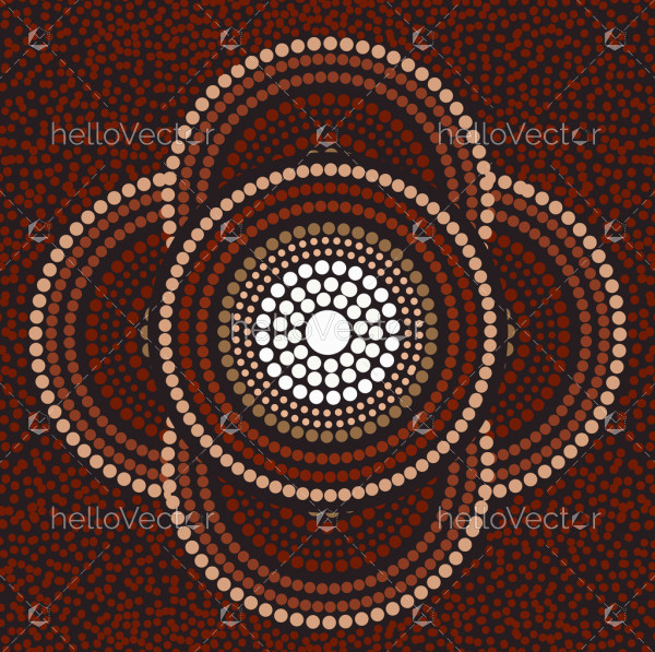Aboriginal background for meditation