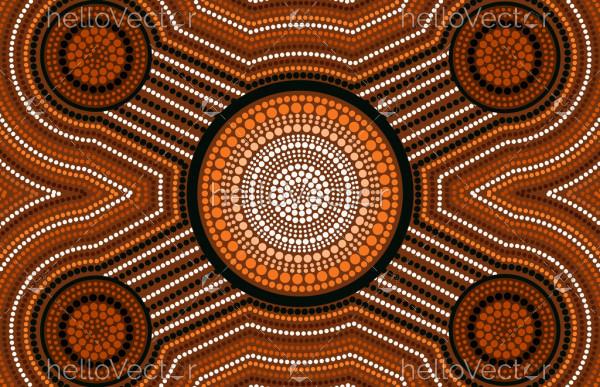 Aboriginal dot artwork - connection concept