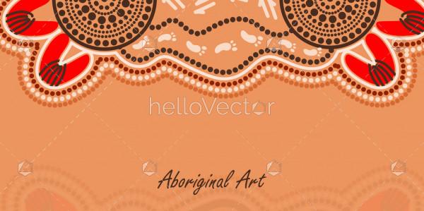 Banner background with aboriginal art