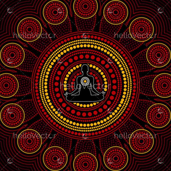Aboriginal meditation art background