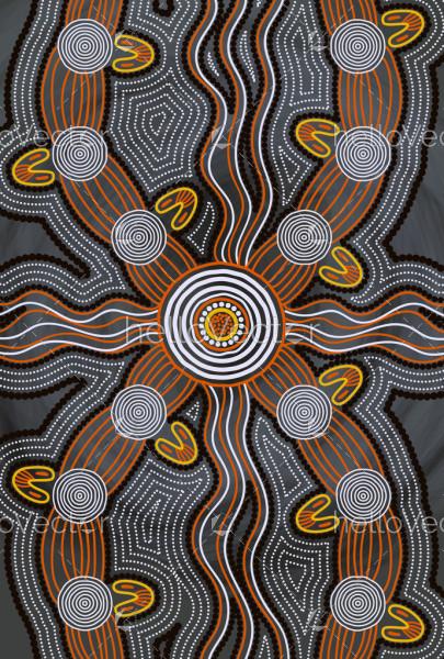 Aboriginal style of art background