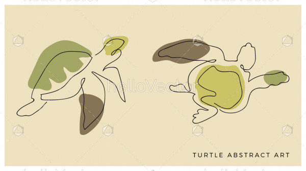 Abstract turtle line design
