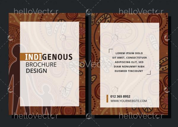 Indigenous design brochure template