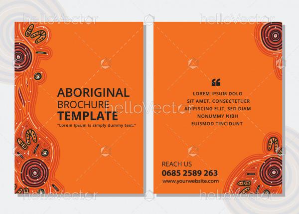 Brochure design with aboriginal art