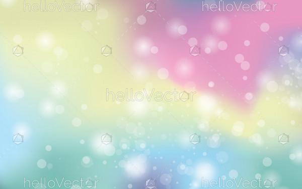 Galaxy fantasy background with rainbow mesh