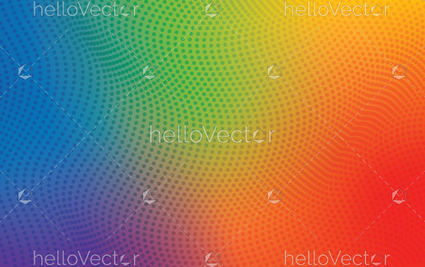 Rainbow halftone texture background
