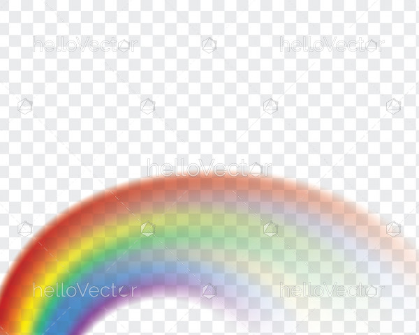 Realistic rainbow illustration