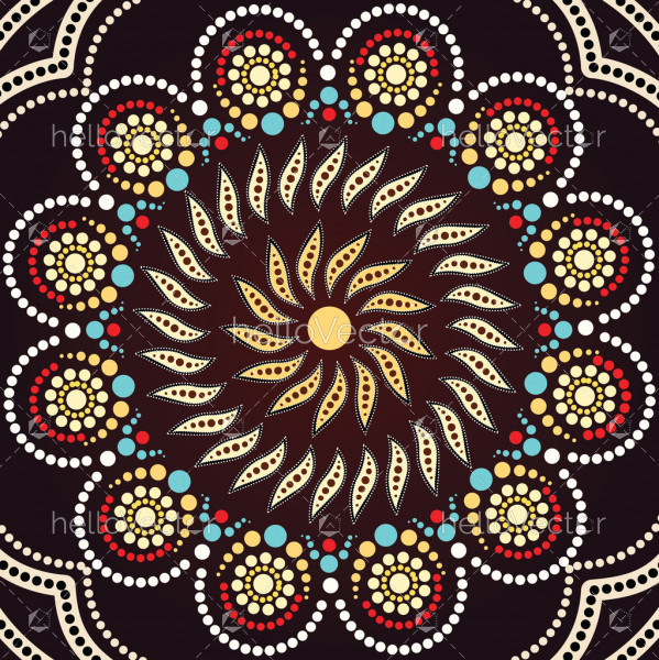 Aboriginal art vector background.