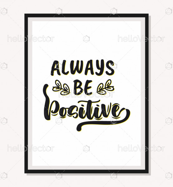 Always Be Positive - motivation quote