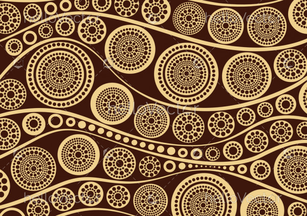 Aboriginal dot art painting - Vector Illustration