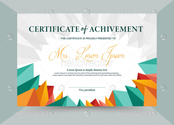 Abstract Colorful Achievement Certificate