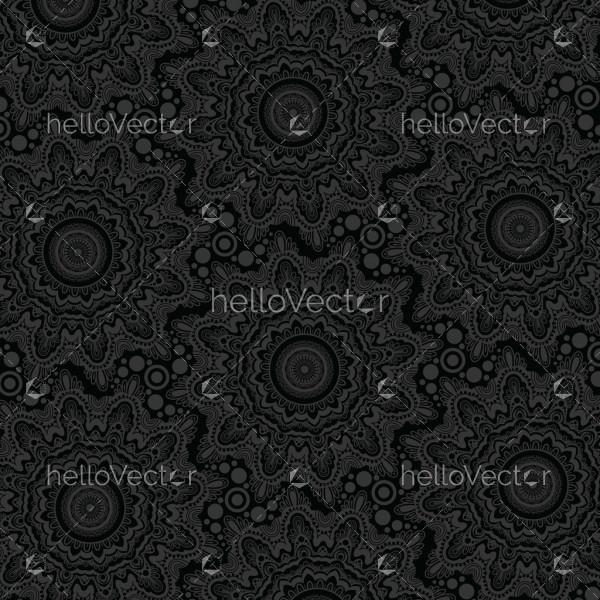 Dark texture background design. Modern stylish seamless pattern - Vector illustration