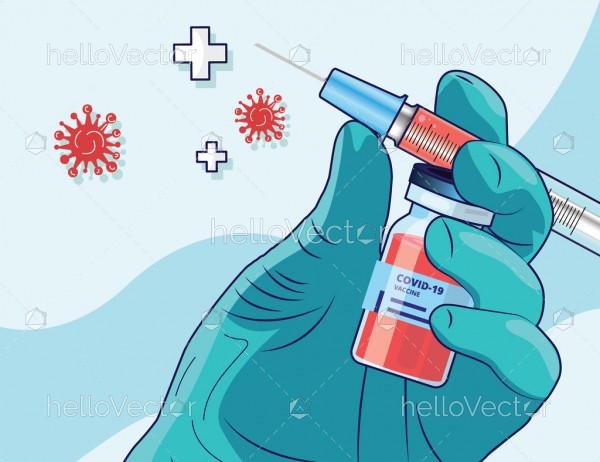 Covid-19 Vaccination Graphic