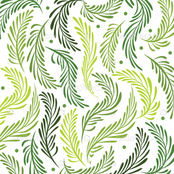 Seamless leaves background - Vector illustration