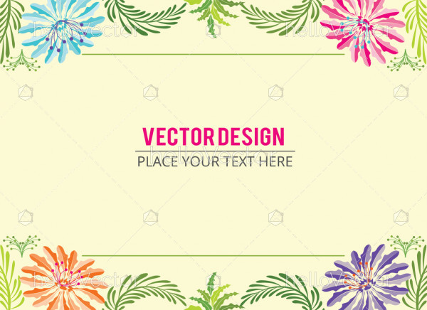 Floral Banner, Abstract floral effect banner background with text - Vector illustration