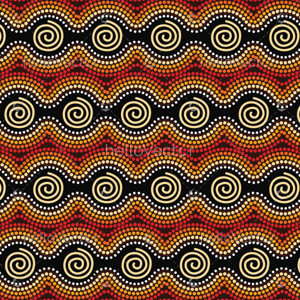 Aboriginal art vector dot background.