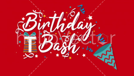 Red Background Birthday Banner Vectors Download 2 Royalty Free Graphics Hello Vector